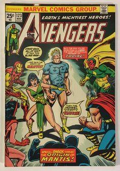 The Avengers #123 VG+ to VG/FN 25¢ Marvel Comics - 1st Star-Stalker / Mantis Origin - 1974