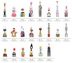 Vitra Wooden Dolls by Alexander Girard