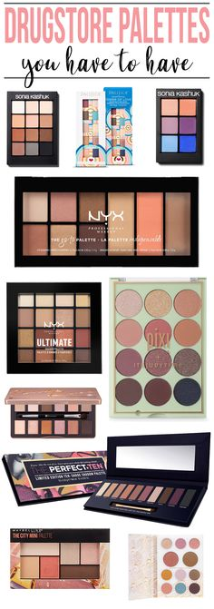BOOKMARK THIS! These are the BEST drugstore eyeshadow palettes! Seriously, you need them ALL.
