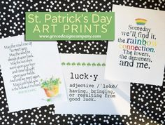 St Pattys Day art prints main