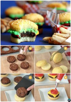 50 Most Creative Cupcake Ideas to Surprise Any Dessert Lover - DIY Cheeseburger Most Surprising Cupcake Decoration Ideas and Recipes - Cupcakes Design, Kid Cupcakes, Summer Themed Cupcakes, Decoration Cupcakes, Campfire Cupcakes, Fathers Day Cupcakes, Cupcake Decorating Party, Fathers Day Cake, White Cupcakes