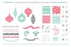 xmas vectors by TOMODACHI on Creative Market