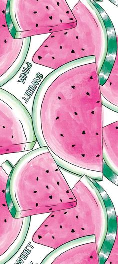 Sweet pink watermelon print / wallpaper