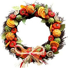 Dried Fruit Circle Wreath  Home by LavenderworldUK on Etsy, $30.17