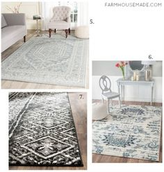 Don't freak out if you see the price tag on Joanna's rugs - these are affordable alternatives! Affordable Home Decor, Cheap Home Decor, Farmhouse Rugs, Farmhouse Decor, Low Cost, Laundry Room Rugs, Diy Home, Classic Furniture, Home Rugs