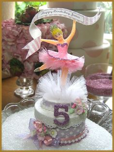 """Pink Ballerina"" Cake Topper Image"