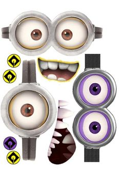 Use these Minion Faces to decorate your minion