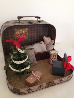 Maileg Mouse Christmas House in a Suitcase. For lots more lovely ideas, gifts and inspiration take a look at 'The Hopping Robin' on Etsy, Instagram and Facebook.