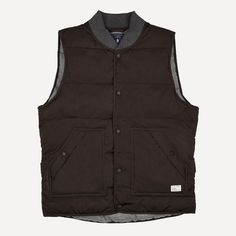 Quilted Button-Up Vest in Dark Earth | Frank & Oak