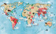 World Map - Tonwen Jones
