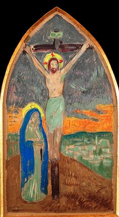 Christ On Cross by Paul Serusier Handmade oil painting reproduction on canvas for sale,We can offer Framed art,Wall Art,Gallery Wrap and Stretched Canvas,Choose from multiple sizes and frames at discount price. Paul Gauguin, Art Transportation, The Cross Of Christ, Impressionist Artists, Oil Painting Reproductions, Traditional Paintings, Painting Process, Classical Art, Oil Painting On Canvas
