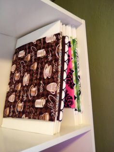 Wrap fabric around foam boards and pin-great for storing fabric!
