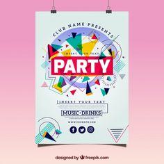 Más de un millón de vectores gratis, PSD, fotos e iconos gratis. Todos los recursos gratuitos exclusivos que necesitas para tus proyectos Banner Design, Flyer Design, Logo Design, Graphic Design Layouts, Graphic Design Posters, Event Poster Template, Multimedia Arts, Party Poster, Vector Free