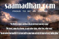Saamadhan.com - भारतीय होने पर गर्व महसूस करें  http://www.saamadhan.com/