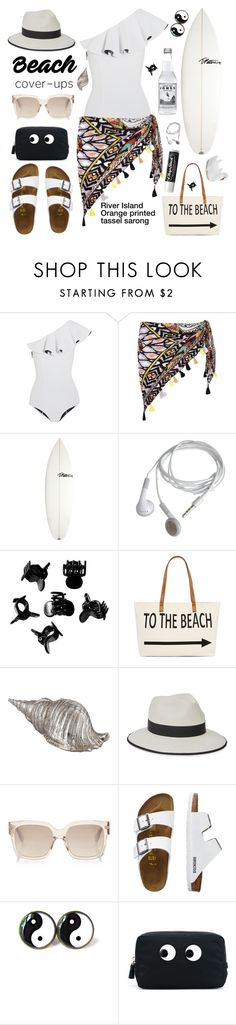 """""""Life is always better at the beach!"""" by karineminzonwilson ❤ liked on Polyvore featuring Lisa Marie Fernandez, River Island, T. Patterson, H&M, Straw Studios, Christys', TravelSmith, Anya Hindmarch, Chapstick and Funboy"""
