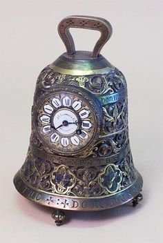 brass bell antique mantel clock by marion
