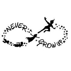 Items similar to Peter Pan Decal on Etsy Peter Pan Decal by AbigailsDesignBox on Etsy Bild Tattoos, Sexy Tattoos, Body Art Tattoos, Small Tattoos, Cool Tattoos, Tatoos, Small Disney Tattoos, Disney Tattoos Quotes, Hp Tattoo