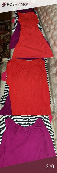 4 Gap Dress Steal Deal! Gap dresses!   Making these a great deal so please take them off my hands! Cute for church or a nice casual outing.   Striped dress is missing 1 snap at the top. Others may have some minor stains but nothing that ruins the dress. Some wash wear and fade.  Stripes knee length Medium Red/Orange mid shin length small but super stretchy. Will with a large person even Pink knee length Medium  Purple mid shin length Medium   Please buy the 4 dress bundle! Its a great deal…