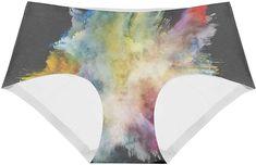 de12d6bcc5 Women s Cotton Underwear Color Explosion Low Rise Briefs Hipster Panties at  Amazon Women s Clothing store