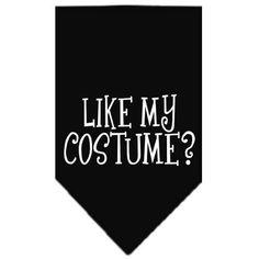 Like my costume? Screen Print Bandana Black Small