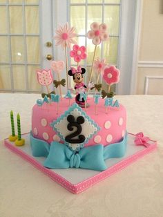 Pink & Blue Minnie Mouse