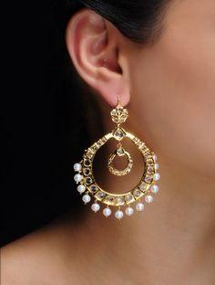 Chand Bali Pearl Earrings
