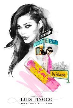 "MAYBELLINE NYC GUIDE 2014 ""BCKSTG"" Jessica White Portrait ILLUSTRATION by LUIS TINOCO http://www.luistinoco.com/"