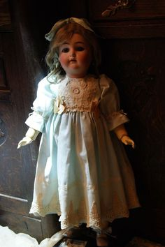 Beautiful dress for France or German antique doll 24+bonus !shoes!!!