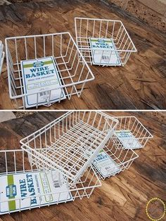 This thrifty idea ends up looking super chic! | diy home decor | diy industrial basket storage idea | sponsored