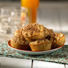 Flavor these tender, granola muffins with pumpkin pie or apple pie spice. Then, add a sprinkling of cinnamon-sugar on top for extra sweetness.