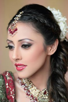 """Aaina - Bridal Beauty and Style: The Bride's Lookbook: Ainy Jaffri for The Dressing Table Salon and Spa Karachi"" via aainabridal.com"