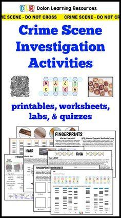 forensic science crime scene investigation activities, fingerprints, DNA, hair, vehicles.