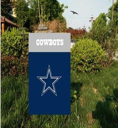 """Dallas Cowboys Garden flag kintted polyester double sides 13""""X18"""" custom designed flag Indoor Outdoor Home Decor"""