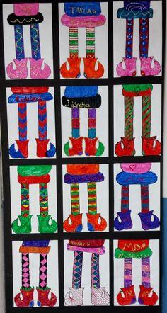 Mrs. Pearce's Art Room : Symmetrical Elf Legs