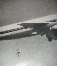 """""""All my son wanted was to see the world"""".    Keith Sapsford, 14, Australian, hid in the wheel housing of a Japan Air Lines Tokyo-bound jet in Sydney. John Gilspin, an amateur photographer, was testing his new camera lens as the plane took off and unwittingly caught Keith Sapsford's 200-foot plunge to death.  1970."""