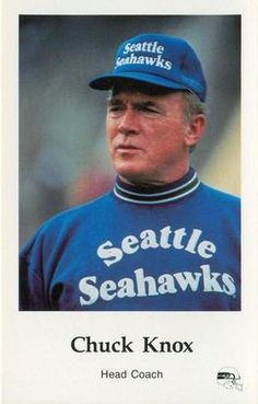 1985 Seattle Seahawks Police #10 Chuck Knox Front