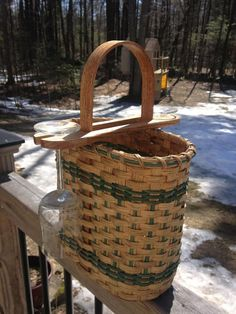 Wine Basket for gift giving wedding by BasketWeavingSupplie, $45.00