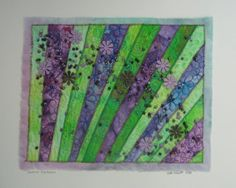 Summer Explosion A Mixed Media Art Quilt by NikkiWheeler on Etsy, $75.00
