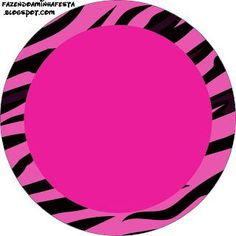 Pink Zebra Background - Complete Kit with frames for invitations, labels for goodies, souvenirs and pictures! | Making Our Party