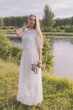 Свадебное платье с чокером