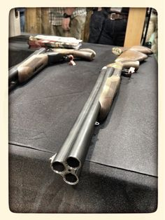Triple barrel shotgun.