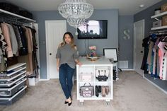 My dream walk in closet. Spare bedroom turned dressing room. Dressing Room Update - Elfa Closet System//stephienese #teenagegirlbedroomdiyorganizations