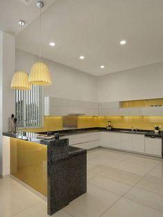Kitchen Design Open, Kitchen Cabinet Design, Interior Design Kitchen, Bungalow Interiors, Kitchen Modular, Cocinas Kitchen, Home Room Design, Home Decor Kitchen, Kitchen Ideas