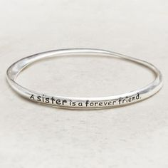 'A Sister Is A Forever Friend' Bracelet