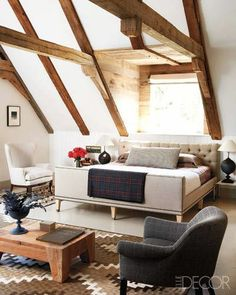 A Rustic, Contemporary Bedroom