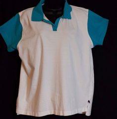 Catalina Women's Multi color Short Sleeve Cotton Polo Shirt Size XL #Catalina #PoloShirt #Casual