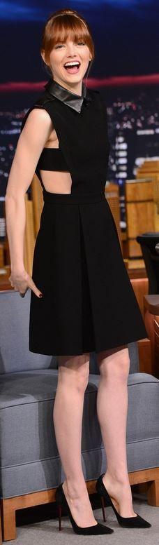 Emma Stone: Dress – Gucci  Shoes – Christian Louboutin
