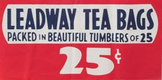 Original Vintage Leadway Tea Grocery Store Poster by HodesH
