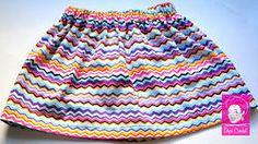 Bright Chevron Skirt - $18