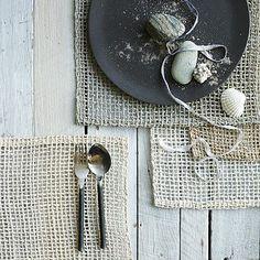 Fishnet Woven Placemat Set #westelm